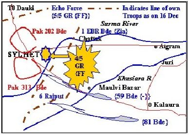 opposing forces own line 16 dec 71
