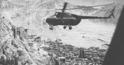 Mi-4 flying over Leh