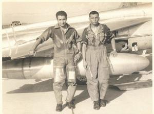 Flt Lt Trevor Keelor and V S Pathania - the original