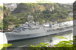 INS Jalashwa, the latest addition to the Indian Navy's fleet entering Visakhapatnam harbour. The ship entered Vizag harbour on 12 September 2007. Image © Indian Navy